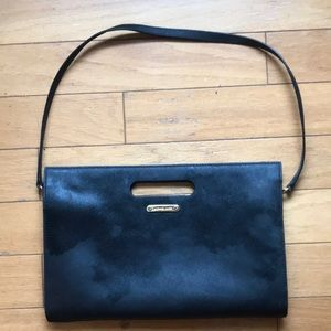 Michael Kors black envelope clutch